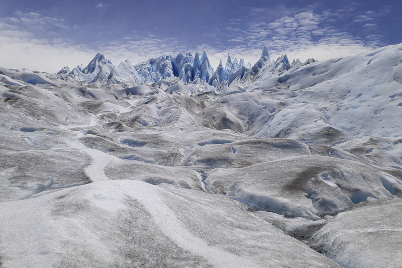 Glaciar Perito Moreno Ice Glacier Landscape Scenics - Nature Beauty In Nature Environment Mountain Sky Cold Temperature Snow Winter Tranquility Tranquil Scene No People Non-urban Scene Nature Day Cloud - Sky Mountain Range Idyllic Outdoors Snowcapped Mountain Mountain Peak