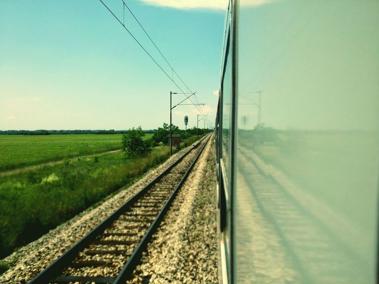 Traveling Travel Photography Train View View From The Train Railway Railroad Railways_of_our_world Railroads Rail