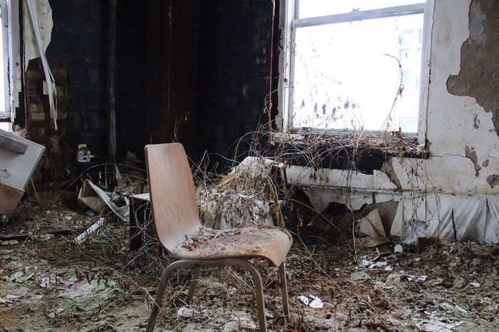 S O K O Abandoned Window Damaged Bad Condition Old No People Obsolete Indoors  Weathered Chair Worn Out Day Discarded EyeEmNewHere