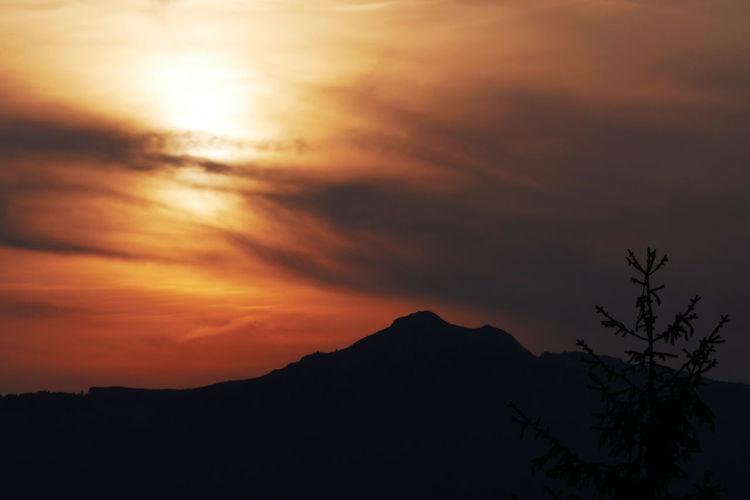 Alpes Beauty In Nature Ceuse Cloud - Sky Landscape Mountain Mountain Range Mountain Sunset No People Scenics - Nature Sky Sunset Tree