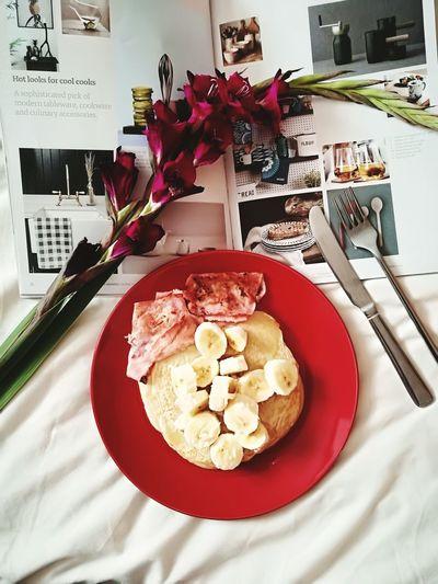 Pancake Breakfast Ham Inspirational Homeware Taking Photos Finding Inspiration Check This Out Enjoying Life Foodporn Banana Pancake Healthy Eating Foodie