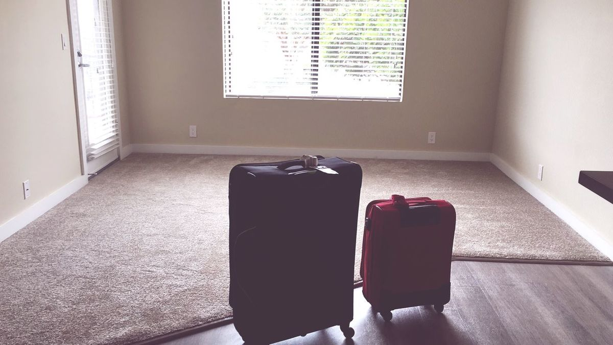 My Year My View Indoors  Window Day No People Travel Moving Shift Lifestyles Change Suitcase Bag Packing My Suitcase New Life New Clean Slate Clean