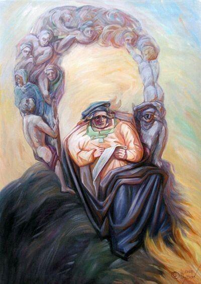 #hazemgarip Bird Multi Colored Painted Image Portrait Close-up
