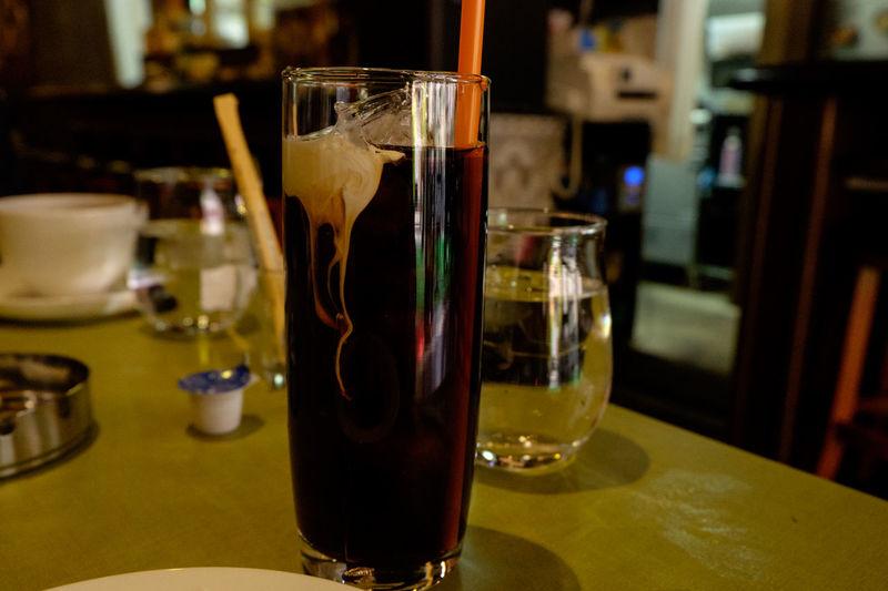 Coffee Coffee Break Coffee Time Drink Drinking Glass Food And Drink Fujifilm Fujifilm X-E2 Fujifilm_xseries Glass - Material ıced Coffee アイスコーヒー 珈琲