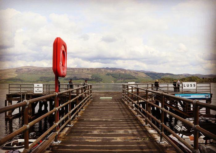 Cloud - Sky Bridge - Man Made Structure Outdoors Red Day No People Landscape Sky Nature Pier Scotland LochLomond Luss Trossachs National Park Landscape_Collection