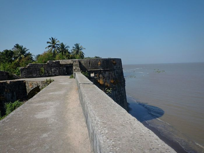 Incredible India Sea Side Fort Fortress Fort Castle Ruin Castle Walls French Build Fort Vasaifort Vasai Sea View