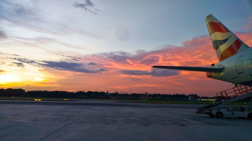 Knowledge comes from finding the answers but understanding what the answers mean is what brings wisdom. Sunset Airport Beauty In Nature Dramatic Sky Red And Orange Sky British Airways Raw Photography LGV10 Lgv10photography Snapseed Hustle