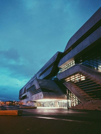 The Architect - 2017 EyeEm Awards Architecture Modern Built Structure Night City Building Exterior Outdoors Illuminated No People France🇫🇷 Montpellier Zaha Hadid ZahaHadid