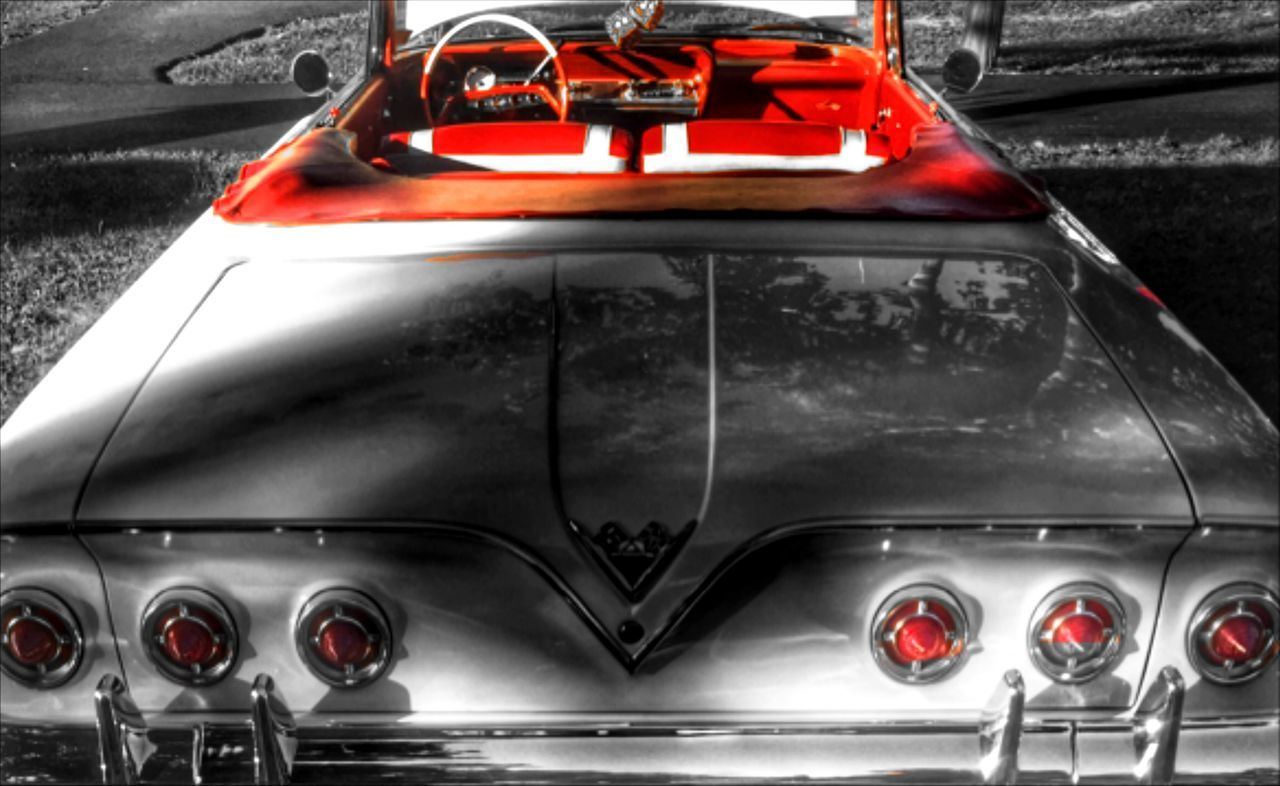 transportation, mode of transport, car, red, outdoors, no people, day, close-up, racecar