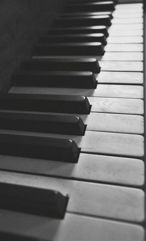 Black&white Blackandwhite Photography Piano Keys Piano Time Musical Instruments Keys Of Life Focus On Foreground Close-up Perspective Photography