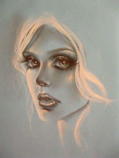 #hazemgarip #beautiful New Drawing @AdrianaMartelli Portrait Women Beauty Headshot One Person Females Adult