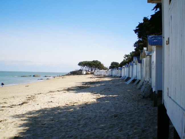 Beach Sand Vacations Sea Sunny Shadow Outdoors Tranquility Beach Cabins Rocks Landscapepine trees Beauty In Nature Wood Cabin île De Noirmoutier France Live For The Story