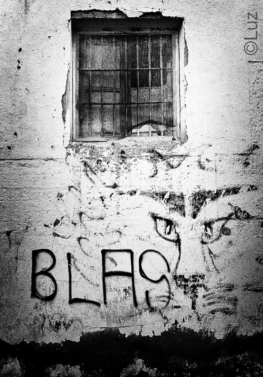 built structure, architecture, weathered, graffiti, building exterior, window, abandoned, day, no people, outdoors, close-up