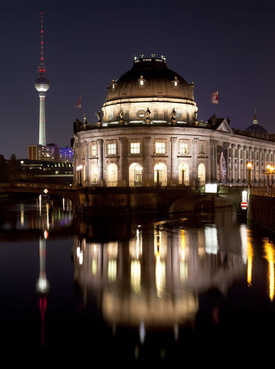 Antenna Architecture Berlin Boats Bode Bridge Building City Cruise Europe Excursion Fernsehturm Germany Island Landmark Mitte Museum Museumsinsel River Sky Spree Television Tourism Touristic Tourists Tower Town Travel Trip Tv Urban Deutschland Night Shot Water Reflections Illuminated Lit