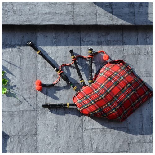Directly Above Shot Of Bagpipe On Sidewalk