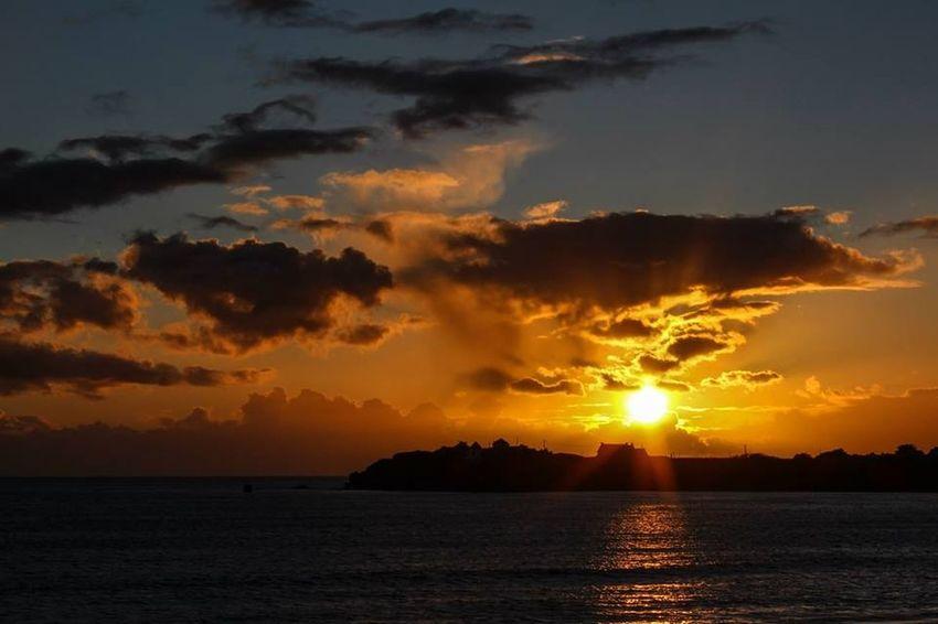 Enjoying The Sun Sea Taking Photos Bretagne Beachphotography Landscape Sunset OpenEdit France Beautiful Nature