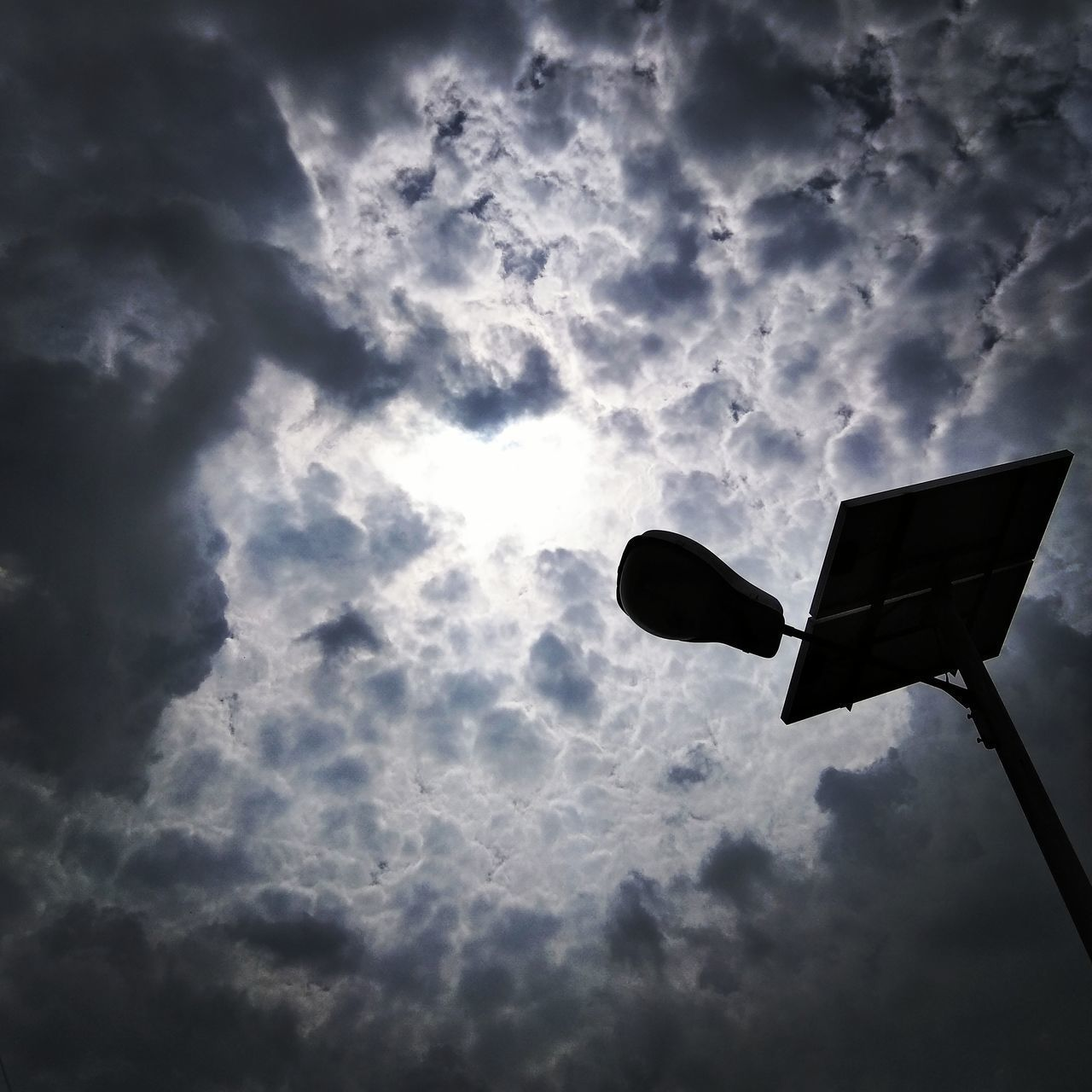 LOW ANGLE VIEW OF SILHOUETTE OF SKY