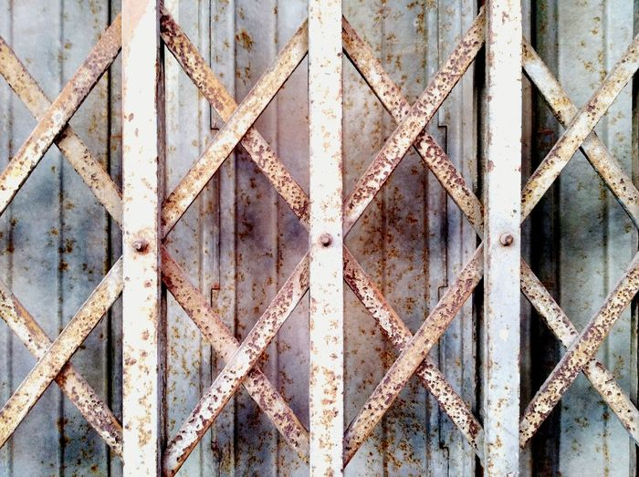 Pattern Close-up Backgrounds Metal Textured  OutdoorsRust Grey Wall No People Door Old