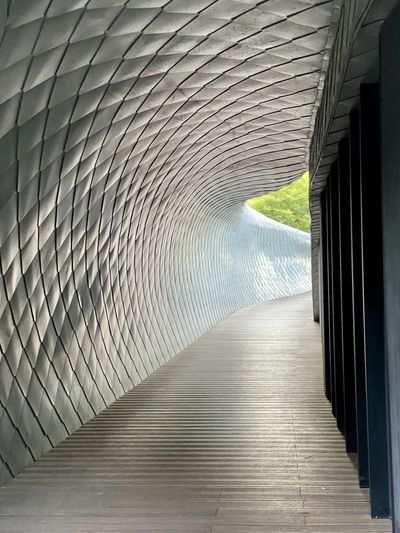 View of bridge in tunnel