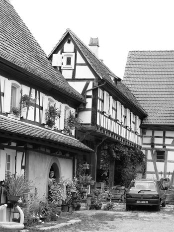 Alsace Streets Architecture Building Exterior Built Structure Clear Sky Day Exterior House No People Obsolete Outdoors Sky Villages