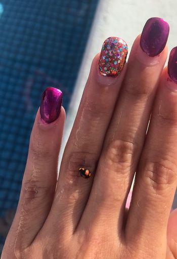 EyeEm Selects Nail Polish Human Body Part Human Finger Human Hand Nail Art Fingernail One Person Real People Close-up Fashion Women Focus On Foreground Lifestyles Leisure Activity Pink Color Manicure Indoors  Day Painting Fingernails Adult