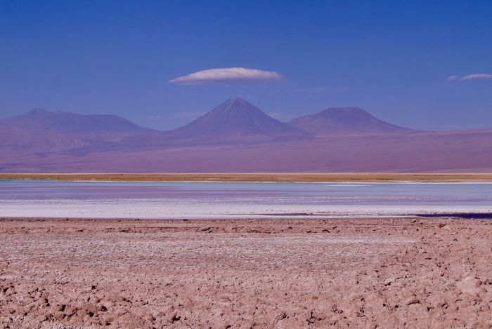 4500 M Above Sea Level Beauty In Nature Salt Flat Outdoors Mountain Range Water Desert Non Filter Natural Light Arid Climate Salt San Pedro De Atacama Chile Mountain Mountains Collection