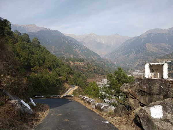 Some roads leads to haven. Himalayas Lord Shiva Road Architecture Beauty In Nature Day Himachalpradesh Landscape Mountain Mountain Range Nature No People Outdoors Palampur Rock - Object Scenics Sky Temple Tree EyeEm Ready