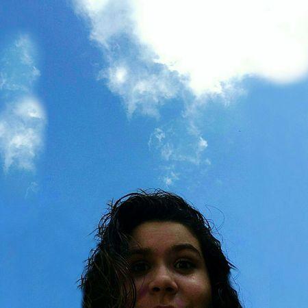 CeuAzul Nuvens Cabelo Meninas