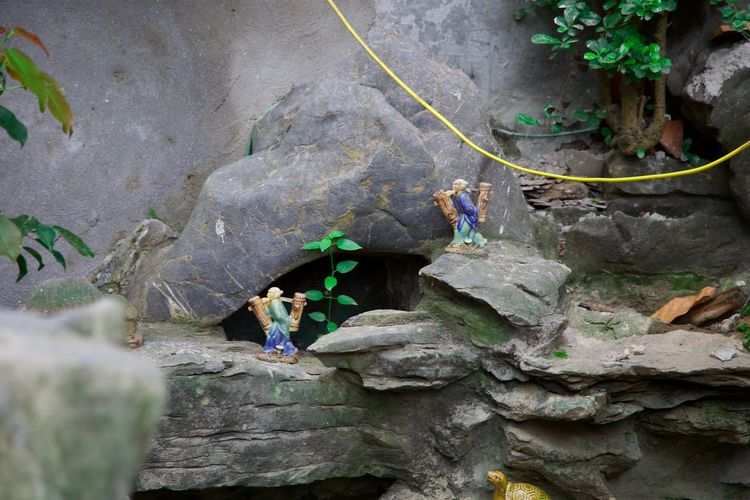Little men Inside Ngoc Son Temple Vietnam Activity Adult Adventure Challenge Climbing Determination Effort Extreme Sports Full Length Hanoi Leisure Activity Little Men Mountain Climbing Nature Outdoors People RISK Rock Rock - Object Rope Solid Sport Strength Temple