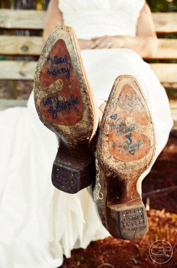 Cowboy Boot Wedding Cowboy Boots Weddings Curtisbphotos  Something Blue