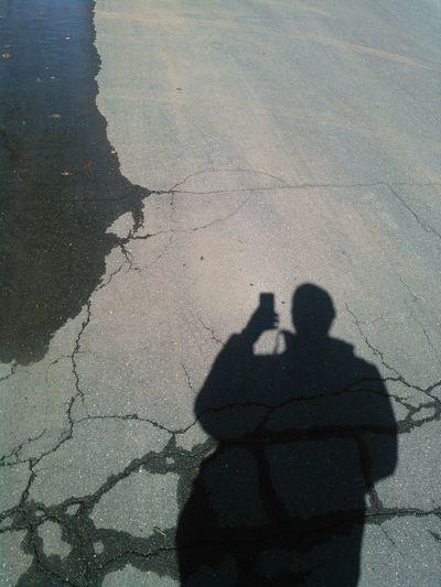 That's Me Shadow Selfie Shadow Selfie