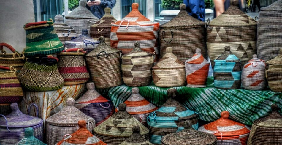 New York City Street Fair. Basket Market New York City New York City Streets Street Fair Baskets Hand Made Basket Large Group Of Objects Multi Colored For Sale Business No People Variation