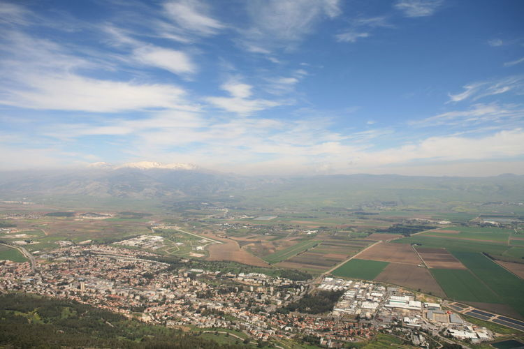 Amazing Landscapes of Israel, Views of the Holy Land Sky Environment Landscape Cloud - Sky Scenics - Nature Aerial View Beauty In Nature Nature Day Building Exterior Architecture City No People Built Structure Building Outdoors Tranquil Scene Tranquility Patchwork Landscape Residential District Cityscape TOWNSCAPE