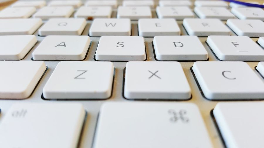 Close-Up Of Computer Keyboard