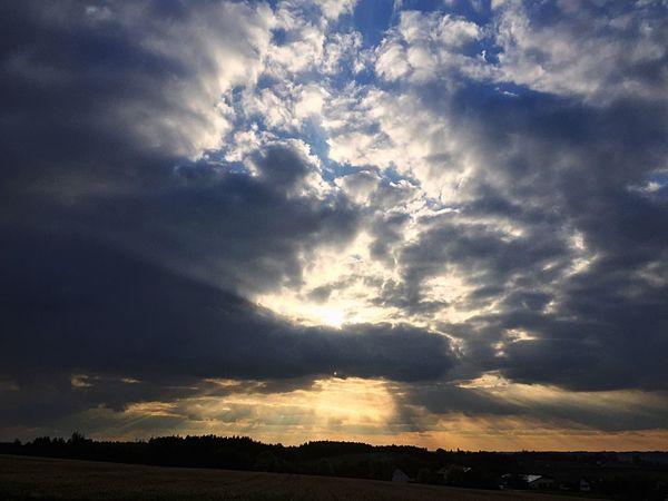 Cloud - Sky Beauty In Nature Landscape Sky Sunset Sunlight Clouds And Sky