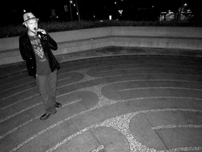 Learn & Shoot: After Dark Enjoying Life Hanging Out Urban Lifestyle City Life Black & White San Francisco Black And White Photography Black And White Collection  Shadows & Lights Night EyeEm Gallery Downtown Labrynth Drinking Guy Guy Standing Grace's Cathedral Tenderloin Maze Unwinding Relaxing