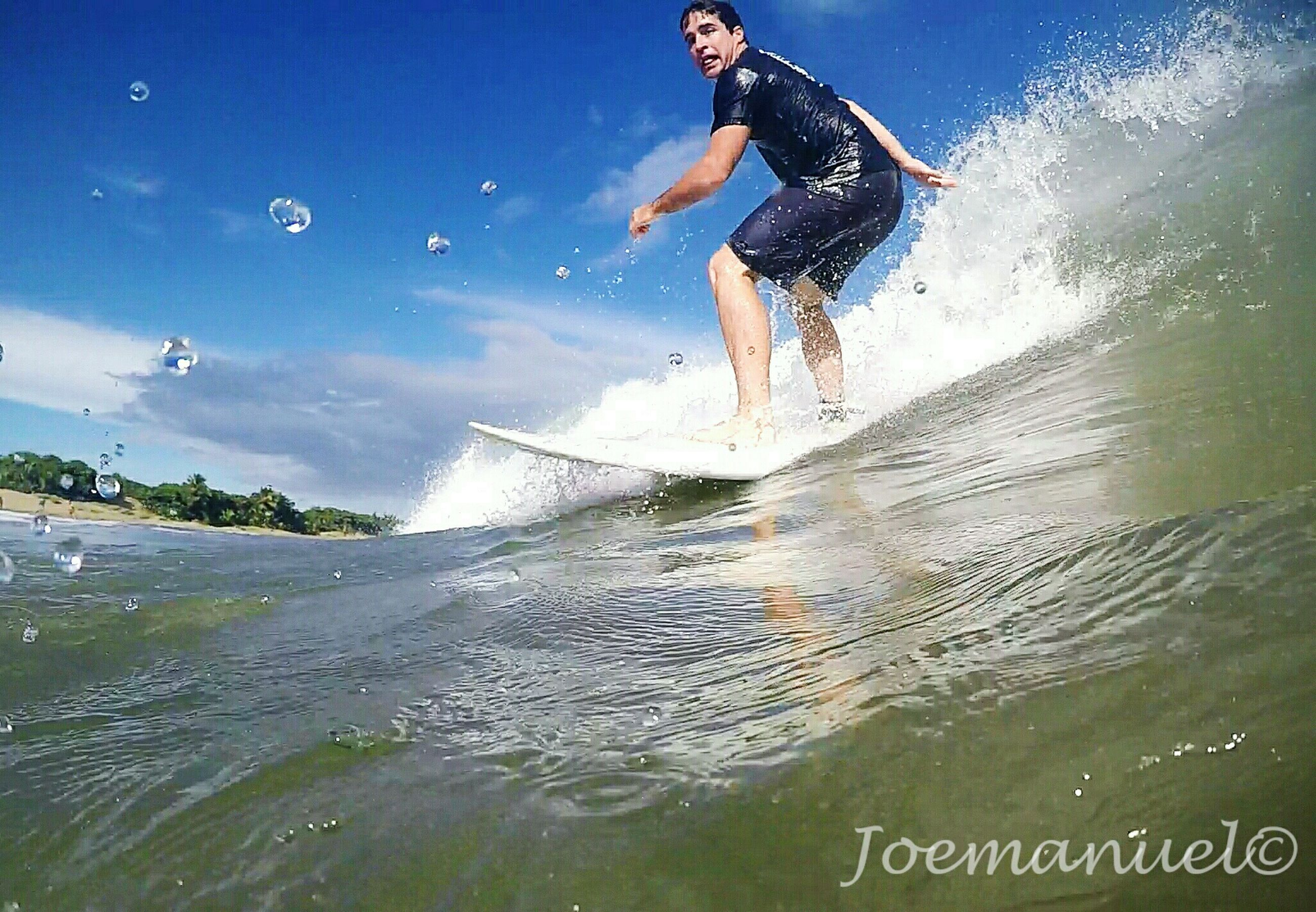 motion, vacations, splashing, leisure activity, lifestyles, surf, water, summer, sky, wave, enjoyment, blue, tranquility, weekend activities, spraying, nature, scenics, tourism, tranquil scene, adventure, sea, shore, outdoors, non-urban scene
