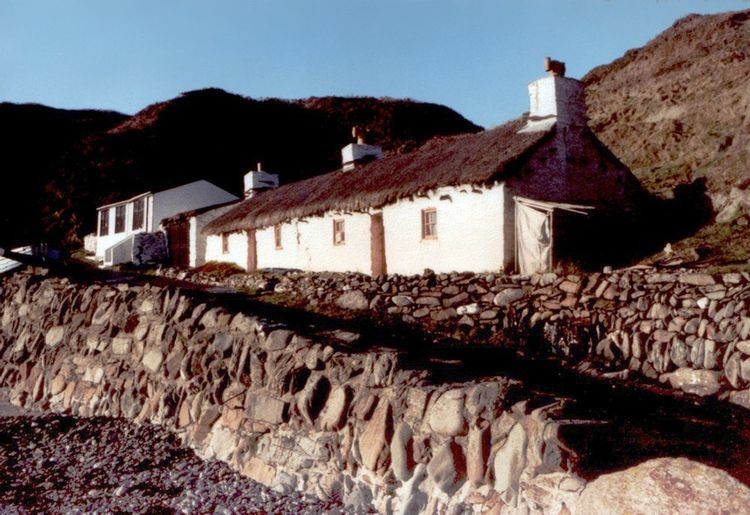 A fisherman's cottage on the west coast of the Isle of Man. Architecture Building Exterior Built Structure Building House No People Sky Nature Solid Day Roof Outdoors Old History Clear Sky Rock Land Cottage Fisherman's Cottages Isle Of Man Irish Sea