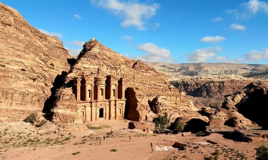 Monastery Petra Jordan Jordanie 7 Wonders