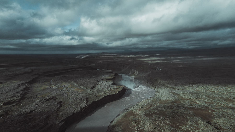 River going to waterfall Mavic Pro Mavic Airphotography Dji Weather Waterfall Water Sky Scenics River Outdoors No People Nature Landscape Horizon Over Water Day Color Cloud - Sky Beauty In Nature Trip Travel Iceland