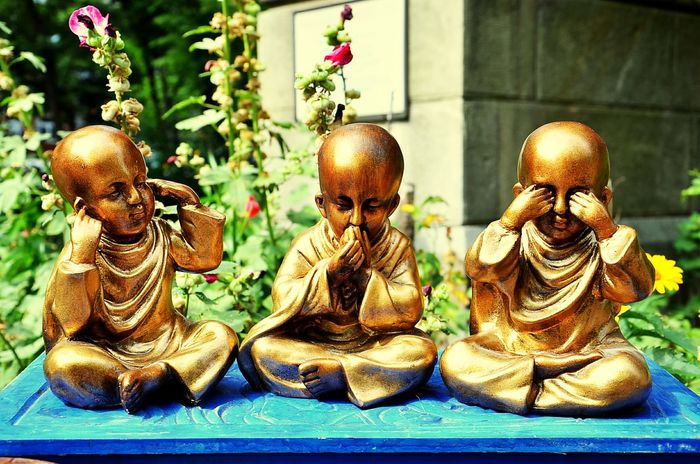 43 Golden Moments 3children Buddism Goldenboy Bronzesculpture 3boys Donttalk Dontsee Buddha Fengshui  Feng Shui Relaxing Goldenboys