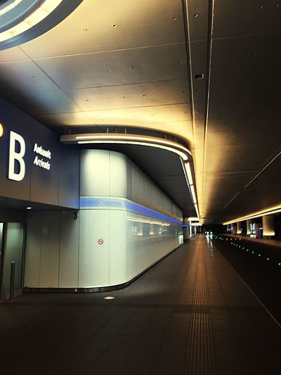 The Places I've Been Today Nightphotography Frankfurt Airport Airport Transportation Illuminated Indoors  Public Transportation No People Architecture
