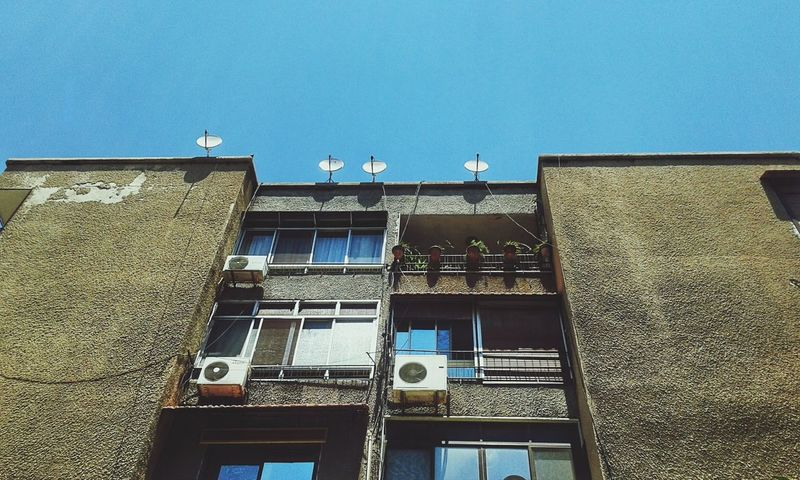 Architecture Building Exterior Low Angle View Window Residential Building Day Outdoors No People Clear Sky Sky Damascus  Syria  EyeEmNewHere