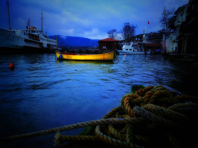Reflection Water Built Structure No People Sky Architecture Outdoors Nautical Vessel Tree Nature Day BEYKOZAYRICALIKTIR. 😌😌😌 Dramatic Photo Beykoz, Turkey, Turkish, Istanbul, Asia, Asian, Middle East, Black Sea, River, Riva, Riva River, Water, Winter, Season Nature Dramatic Sky Istanbulove Istanbul Turkiye Growth