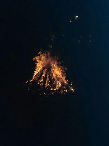 Sky Night Celebration Smoke - Physical Structure Outdoors Low Angle View Nature Motion Holikadahan Dark Night With Positive Blaze Happy Holi