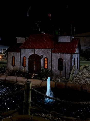 Night Building Exterior Spooky Built Structure Architecture No People Outdoors Sky Halloween Pirates Cove in Indiana