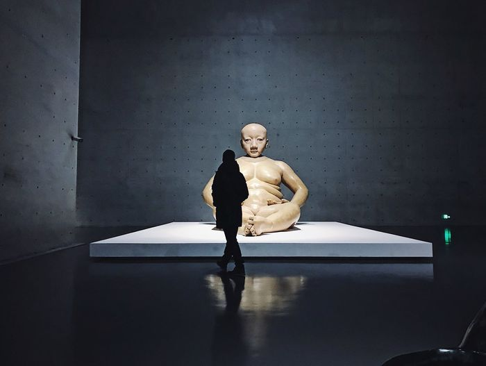 Art Museum Shanghai Gallery Of Art Museum Of Modern Art Cold Naked_art Gallery Dark Shanghai China darkness and light Hope Sitting Human Representation Indoors  One Person Representation Emotion Shadow Architecture Figurine