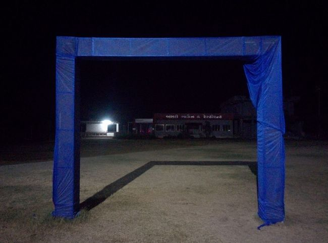 Decorations Decoration Gate Illuminated Night Architecture Blue Built Structure No People Sport