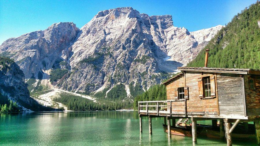 Lake View Mountain View Relaxing Landscape Lago Di Braies