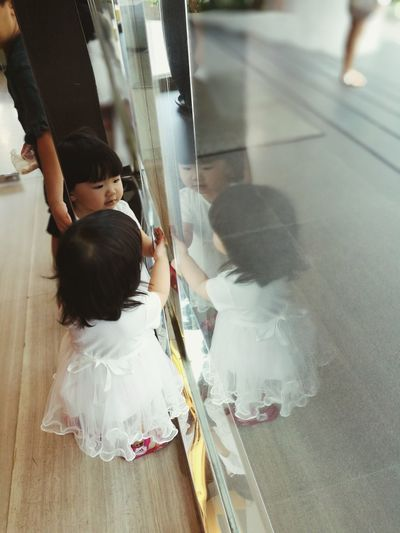 Sommergefühle Fourdimesion Four Child Girl Kid Reflection